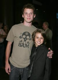 Anton Yelchin and Dominic Scott Kay at the special screening of