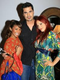Melody Thorton, Rocco G. and Carmit Bachar at the Mercedes Benz Fashion Week.