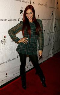 Carmit Bachar at the Johnnie Walker Dressed to Kilt 2006 fashion show during the Mercedes Benz Fashion Week.