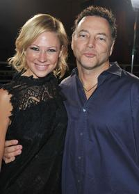 Desi Lydic and director Bo Zenga at the Los Angeles premiere of