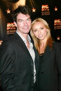 Jerry O'Connell and Giuliana DePandi at the A & E Television Networks' 20th anniversary celebration.