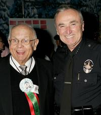 Johnny Grant and William J. Bratton at the 2005 Hollywood Christmas Parade.