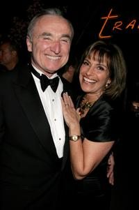 William J. Bratton and his Wife Rikki Klieman at the after party of Weinstein Co. Golden Globe.
