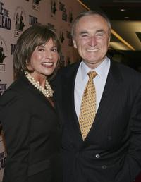 Rikki Klieman and William J. Bratton at the screening of