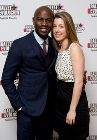 David Gyasi and Guest at the opening night of