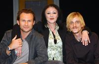 Frances Barber, Christian Slater and Mackenzie Crook at the London photocall of