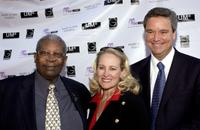 B.B. King, Mary Haskell and Sam Haskell at the celebration of his 80th birthday.