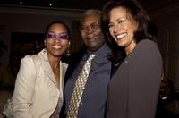 Angela Bassett, B.B. King and Marilyn McCoo at the King's 80th birthday.