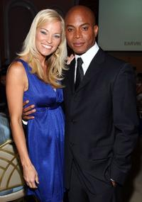 Brooke Long and Travis Payne at the USA Today Hollywood Hero honoring Magic Johnson.