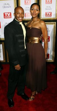 Erik King and guest at the TV Guide's 5th Annual Emmy Party.