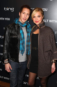 Joe Reegan and Arielle Kebbel at the after party and Official Cast Dinner of