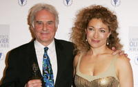 Alex Kingston and Richard Eyre at the Laurence Olivier Awards at the London Hilton.