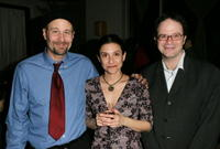 Terry Kinney, Gina Gionfriddo and Doug Aibel at the after party for the opening night of