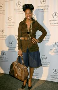 Shondrella Avery at the Mercedes Benz Fashion Week.