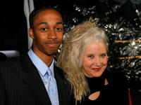 Sally Kirkland and Dre Bowie at the premiere of