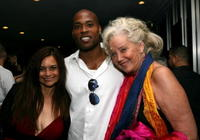 Sally Kirkland, Valerie McCaffrey and Will Holman at the after party for the premiere of