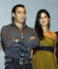 Salman Khan and Katrina Kaif at the publicity event of