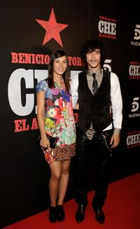 Barbara Goenaga and Oscar Jaenada at the premiere of