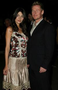 Silvia Colloca and Richard Roxburgh at the Sydney premiere of