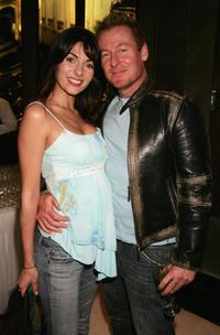 Silvia Colloca and Richard Roxburgh at the screening of