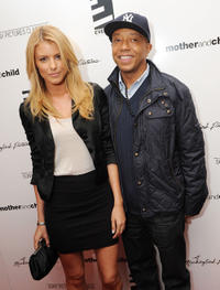 Paige Butcher and Hip-Hop mogul Russell Simmons at the New York premiere of