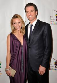 Jennifer Siebel and Gavin Newsom at the reading of