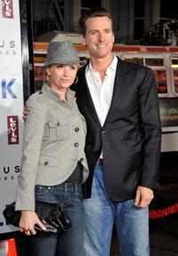 Jennifer Siebel and Gavin Newsom at the world premiere of