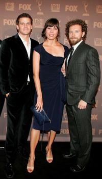 David Boreanaz, Michaela Conlin and T.J. Thyne at the 20th Century Television Fox Emmy after party.