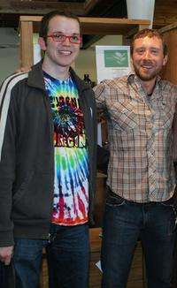 Eric Milligan and T.J. Thyne at the green living lifestyle emmy lounge.