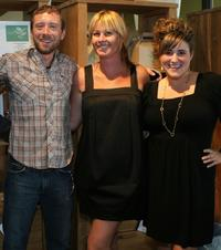 T.J. Thyne, Kim D'Amato and Kaycee Stroli at the green living lifestyle emmy lounge.