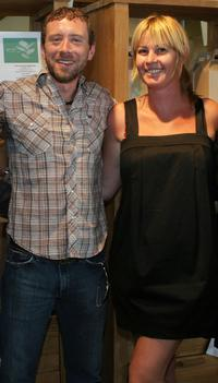 T.J. Thyne and Kim D'Amato at the green living lifestyle emmy lounge.