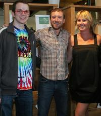 Eric Milligan, T.J. Thyne and Kim D'Amato at the green living lifestyle emmy lounge.