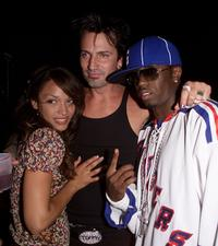 Mayte Garcia, Tommy Lee and Sean P.Diddy' Combs at the MTV 20th Anniversary party.