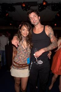 Mayte Garcia and Tommy Lee at the MTV 20th Anniversary party.