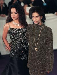 Mayte Garcia and Prince at the De Beer and Versace