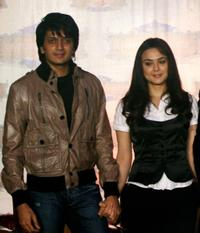 Ritesh Deshmukh and Priety Zinta at the press conference to announce