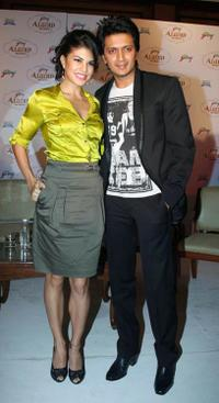 Jacqueline Fernandez and Ritesh Deshmukh at the launch of