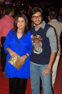Farah Khan and Ritesh Deshmukh at the premiere of