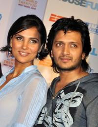 Lara Dutta and Ritesh Deshmukh at the event in Mumbai.