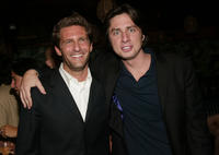 Gary Gilbert and Zach Braff at the after party of the premiere of