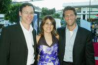 Richard Klubeck, Pam Abdy and Gary Gilbert at the premiere of