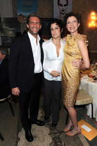 Gary Gilbert, Lisa Cholodenko and Annette Bening at the Eleventh Annual AFI Awards reception.