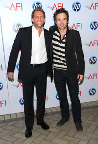 Gary Gilbert and Mark Ruffalo at the Eleventh Annual AFI Awards.