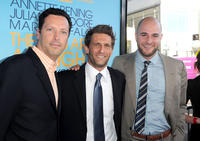 Andrew Karpen, Gary Gilbert and Jordan Horowitz at the premiere of