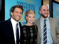 Gary Gilbert, Mia Wasikowska and Jordan Horowitz at the premiere of