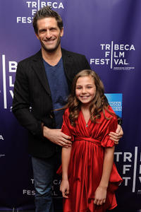 Gary Gilbert and Gracie Gilbert at the premiere of