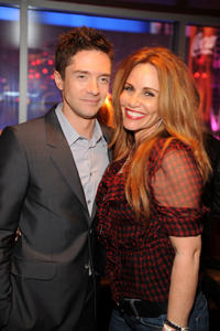 Executive Producer Topher Grace and Tawny Kitaen at the California premiere of