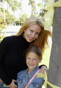 Tawny Kitaen and her daughter Wynter Finley at the Yellow Ribbon Sunday.