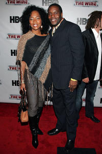 Chad Coleman and Guest at the New York premiere of