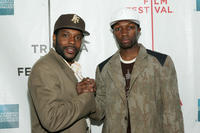 Chad Coleman and Jamie Hector at the premiere of